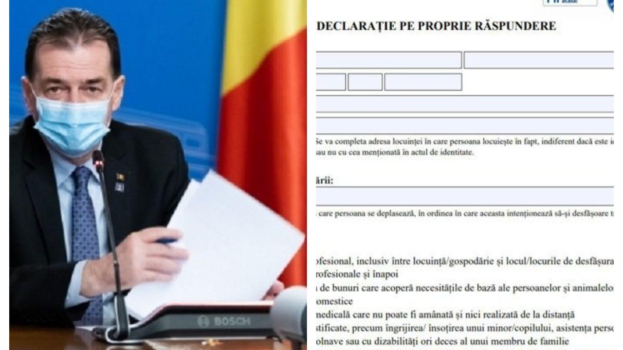 Ludovic Orban a anunţat cum vor vota locuitorii oraşelor carantinate. Au sau nu nevoie de declaraţie pe propria răspundere?
