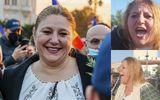 """Diana Șoșoacă a protestat în Piața Victoriei: """" O să mori oricum, acum depinde cum. Mori demn sau prost"""""""