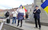 Diana Şoşoacă a protestat la Cluj, alături de Gheorghe Funar. Atacuri la Klaus Iohannis, Raed Arafat şi Vlad Voiculescu VIDEO