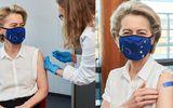 Ursula von der Leyen, președinta Comisiei Europene, s-a vaccinat anti-Covid cu prima doză. Imagini din centrul de vaccinare