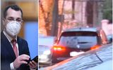 Vlad Voiculescu a plecat pe furiş de la minister, pe uşa din spate. Fostul guvernant de la Sănătate, surprins într-o maşină cu geamuri fumurii