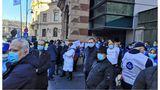 Protest la Ministerul Finanţelor. Sindicaliştii de la Cartel Alfa, nemulţumiţi de actuala guvernare