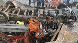 Accident înfiorător la ieşire din Călugăreni spre Bucureşti cu 10 persoane. Două dintre ele au murit