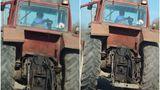 Imaginea zilei vine de la Cluj. Un copil a fost filmat la volanul unui tractor. Toată scena a devenit virală: Welcome to Romania!