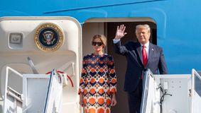 Melania Trump a plecat în negru de la Casa Albă şi a ajuns în portocaliu în Florida