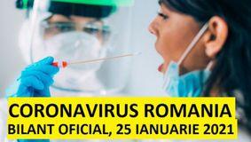 Coronavirus în Romania, 25 ianuarie 2021. Rata de infectare cu COVID-19 a crescut la 17%! Cum arată cel mai recent bilanț
