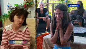 """Mellina, desfigurată de durere când își vede mama la Survivor România. """"Mi-am adus aminte cât de mult o iubesc!"""" Ce mesaj a primit Furnicuța"""