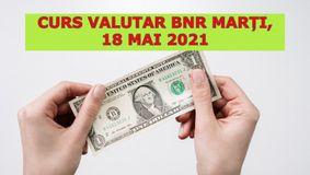 Curs valutar BNR marți, 18 mai 2021. Dolarul continuă să scadă, euro crește! Care sunt cele mai noi cotații