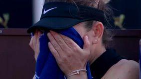 Lacrimi și agonie pentru Simona Halep! Cum s-a produs accidentarea horror și cine a sărit imediat să o ajute! VIDEO