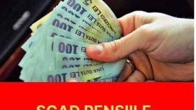 Vești proaste pentru PENSIONARI! Scad pensiile!