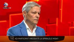 Dezvăluire fără precedent! Ce făcea Dacian Cioloș la Spiralele Misa: ''Nu îmi pare rău că am participat...''