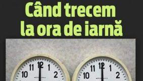 România trece la ORA DE IARNĂ! Vom dormi mai mult. Cum trebuie să ne potrivim ceasurile