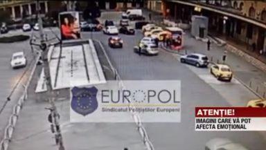 """Un polițist a fost lovit violent de un șofer în Capitală. Europol consideră fapta """"tentativă de omor"""""""